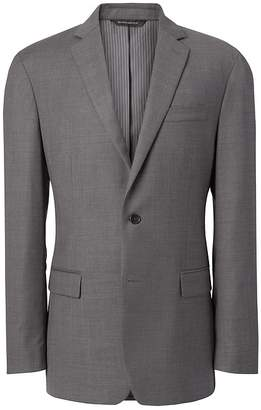 Banana Republic Slim Italian Wool Sharkskin Suit Jacket