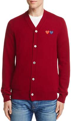 Comme Des Garçons PLAY Wool Double Heart Cardigan Sweater $325 thestylecure.com
