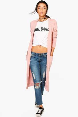 boohoo Tall Chunky Knit Longline Cardigan
