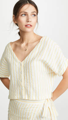 Plush Linen Cropped Button Down
