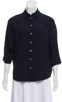 Michael Kors Silk-Blend Dolman Sleeve Top