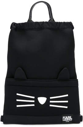 Karl Lagerfeld Choupette top handles backpack
