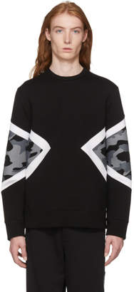 Neil Barrett Black Camo Modernist Sweatshirt
