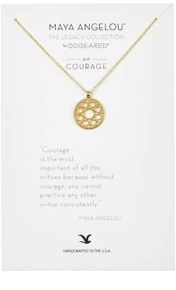 Dogeared Courage Maya Angelou Legacy Collection Cutout Pendant Necklace