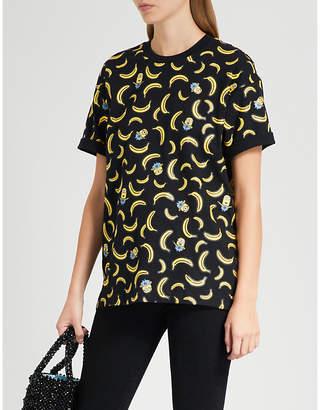 Chocoolate Minion banana-print cotton-jersey T-shirt