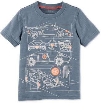 Carter's Race Car Graphic-Print Cotton T-Shirt, Little Boys