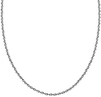STERLING SILVER CHAINS Silver Reflections Sterling Silver Butterfly Twist 20 Chain Necklace