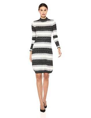 Calvin Klein Women's Long Sleeve Mock Neck Sweater Dress