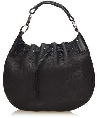 Gucci Vintage Leather Drawstring Hobo Bag