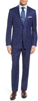 Men's Hickey Freeman Classic Fit Windowpane Wool Suit $1,595 thestylecure.com