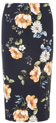 Dorothy Perkins Womens Navy Floral Pencil Skirt