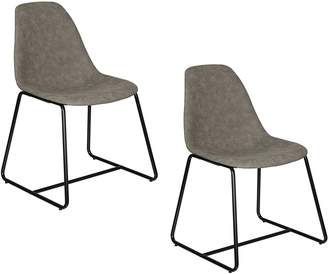 Simpel Dining Chairs Wells Dining Chair, Grey (Set of 2)