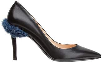 Fendi Touch of Fur court pumps