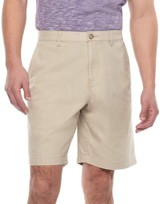 Marc Anthony Men's Slim-Fit Linen-Blend Flat-Front Shorts