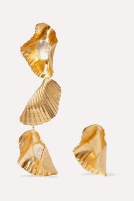 1064 Studio - Gold-plated Resin Earrings