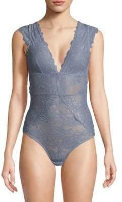 Sam Edelman Lace Cap-Sleeve Bodysuit