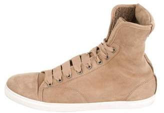 Lanvin Sherpa High-Top Sneakers