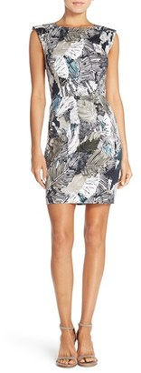 French Connection Print Stretch Cotton Sheath Dress $158 thestylecure.com