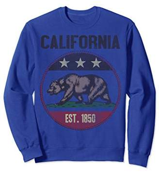 California Bear Flag Rope Circle Vintage Graphic Sweatshirt