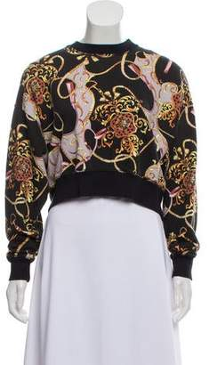 The Kooples Printed Cropped Sweatshirt