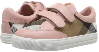 Burberry Kids - Mini Heacham Sneaker Girl's Shoes $175 thestylecure.com