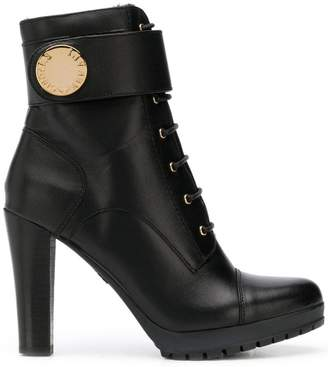 Emporio Armani ankle strap ankle boots