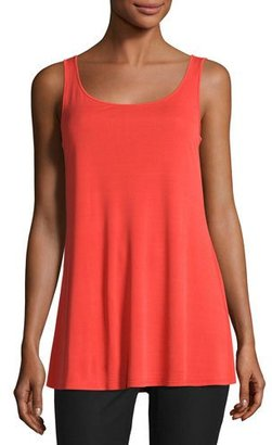 Eileen Fisher Jersey Sleeveless Scoop-Neck Tunic, Poppy $148 thestylecure.com