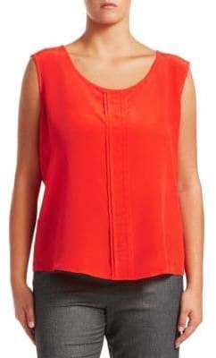 Marina Rinaldi Marina Rinaldi, Plus Size Marina Rinaldi, Plus Size Women's Begonia Silk Crepe Sleeveless Blouse - Orange - Size 16W