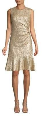 Eliza J Glitter A-Line Dress