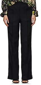 Prada Women's Striped Wide-Leg Track Pants - Black