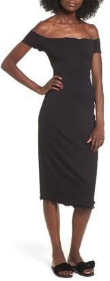 Women's Privacy Please Caperton Off-The-Shoulder Midi Dress $128 thestylecure.com