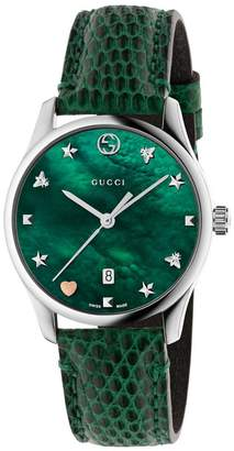 Gucci Watch G-timeless Watch Case 27 Mm With Mother-of-pearl Dial