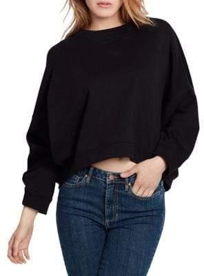 Ella Moss Boxy Cropped Cotton Pullover