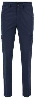 HUGO BOSS Cotton Cargo Pant, Tapered Fit Kailo D 28R Dark Blue
