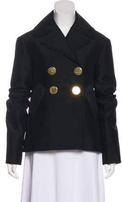 Celine Peak-Lapel Long Sleeve Blazer