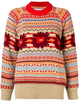Sacai open back sweater