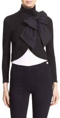 Alice + Olivia 'Addison' Bow Front Jacket