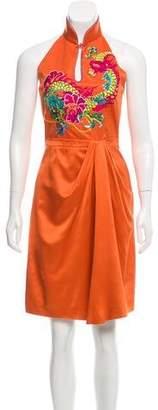 Philosophy di Alberta Ferretti Silk Halter Dress