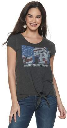 Rock & Republic Women's American Flag MTV Logo Tee