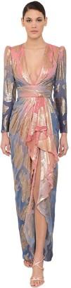 ZUHAIR MURAD LONG SILK BLEND DRESS