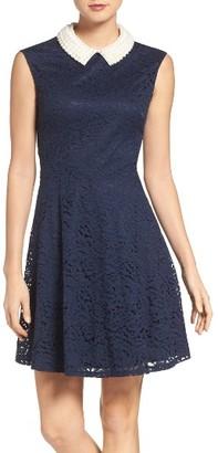Women's Betsey Johnson Imitation Pearl & Lace Dress $138 thestylecure.com