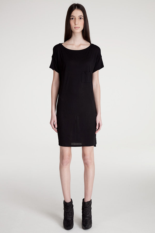 T by alexander wang BOATNECK MINI POCKET Dress