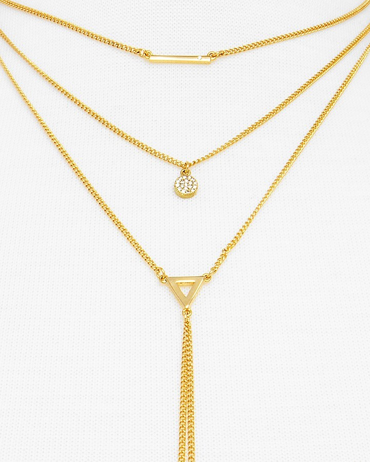 """BAUBLEBAR Facets Layered Necklace, 14"""" 3"""
