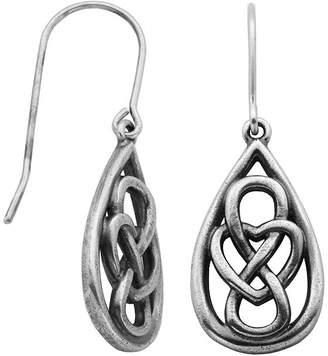 Celtic FINE JEWELRY Sterling Silver Knot Teardrop Earrings