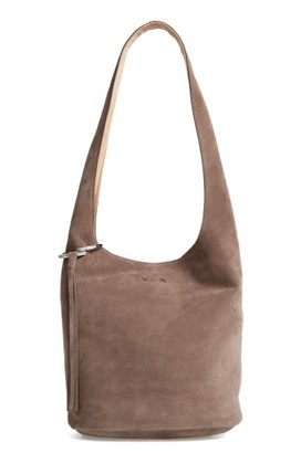 Elizabeth And James Finley Courier Hobo - Grey $495 thestylecure.com