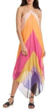 Trina Turk Hummingbird Silk Dress
