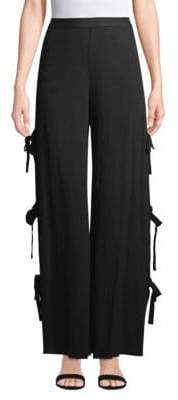 Jonathan Simkhai Cotton Comb Side Tie Pants