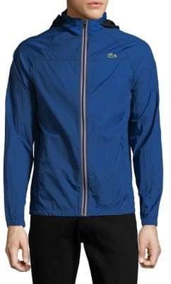 Lacoste Contrast-Zip Lightweight Ripstop Jacket