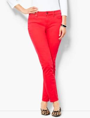 Talbots Garment-Dyed Slim Ankle Jeans - Bright Apple
