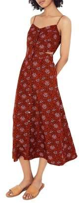 Madewell Warm Paisley Cutout Camisole Midi Dress